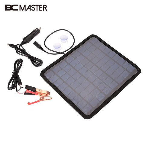 BCMaster Portable 18V 5.5W Solar Power Panel Car Boat Automobile Battery Power Charger Camping