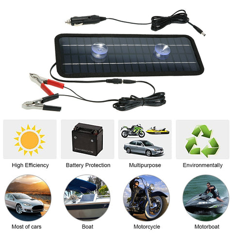 18V 4.5W Portable Solar Panel Power Car Boat Battery Charger Backup Outdoor Car Accessories Car Styling