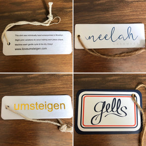 Thick Hangtags with string