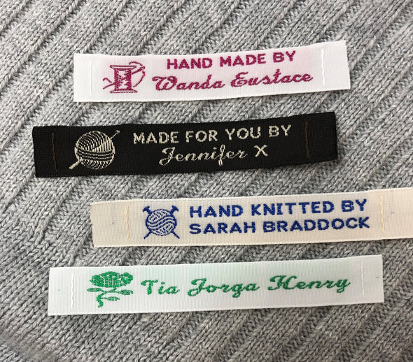 "1/2"" Narrow Embroidered Craft & Hobby Labels"