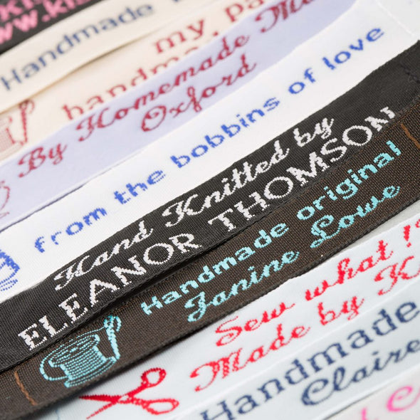 "Narrow 1/2"" Embroidered Name Tapes"