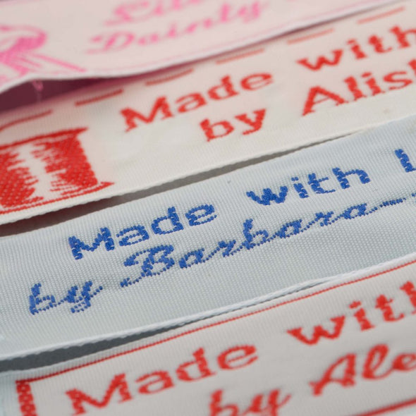 "Wide 1"" Embroidered Name Tapes"