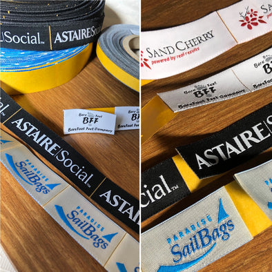 custom woven self-adhesive labels
