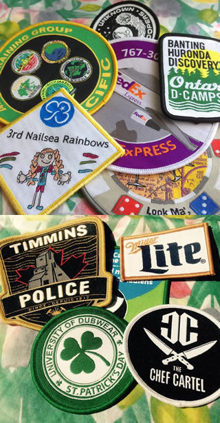 woven patches and badges