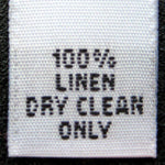Dry Cleaning Clothing Labels (stock labels)