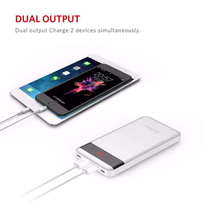 10,000 mAh Mobile Power Bank With LCD Indicator - HYPR Supply