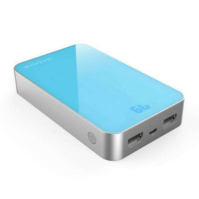 13,000 mAh Dual-Output Mobile Power Bank With LCD Indicator - HYPR Supply