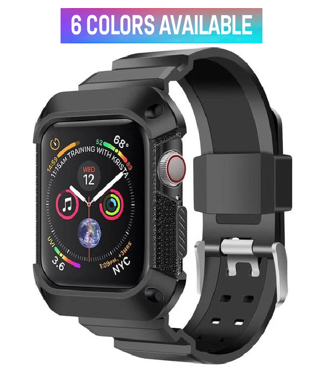 quality design 07fa3 6a0a9 Apple Watch - Rugged Silicone Band With Protective Case (For Apple Watch  Series 4)