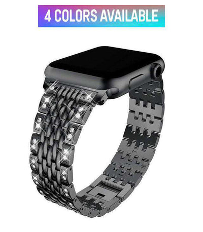 Apple Watch - Stainless Steel Link Diamond Band - HYPR Supply