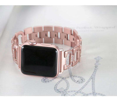 Apple Watch - Thick Stainless Steel Diamond Chain Link Bracelet Band - HYPR Supply
