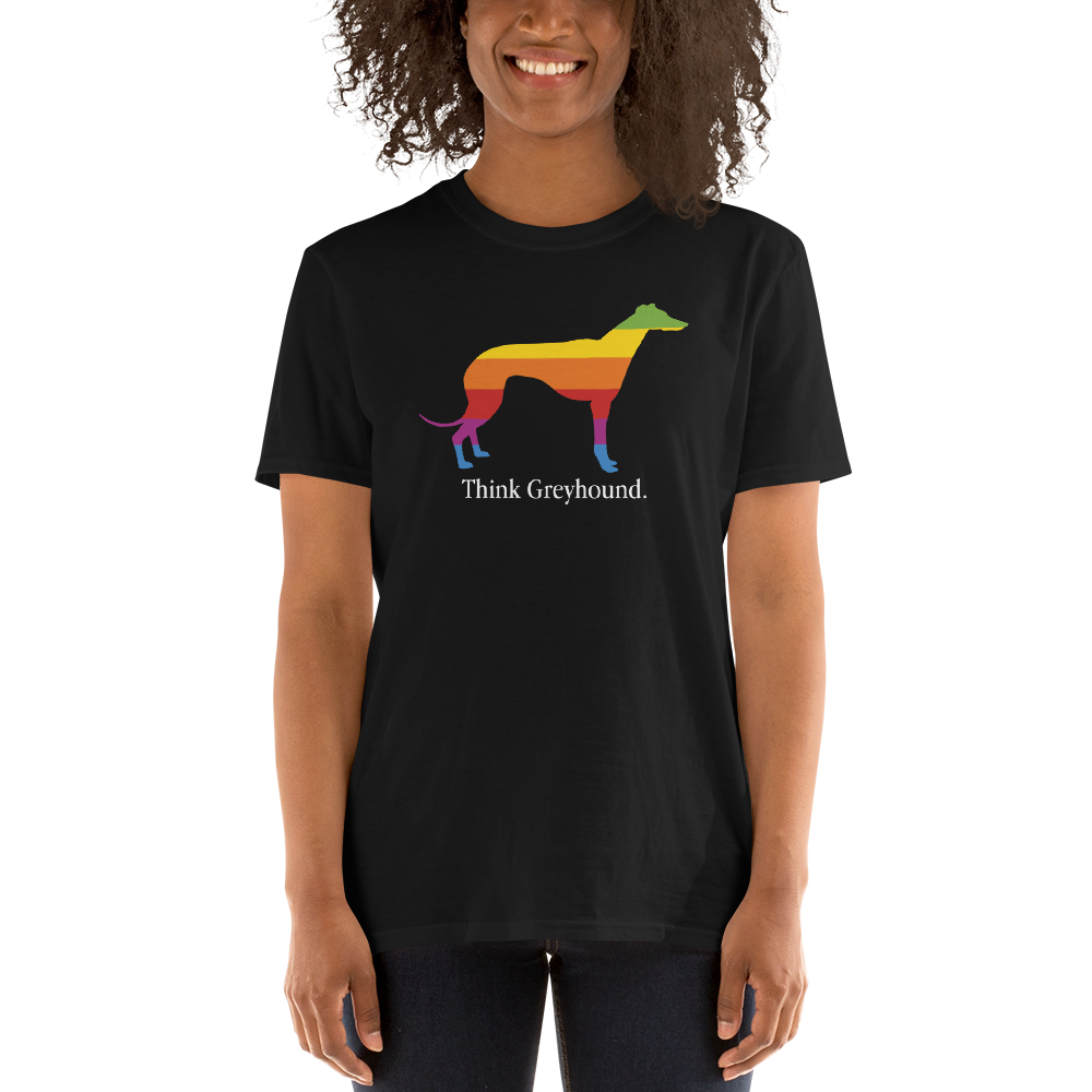 Think Greyhound. Short-Sleeve Unisex T-Shirt