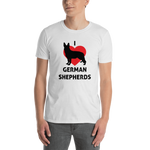 I Love German Shepards. Short-Sleeve Unisex T-Shirt