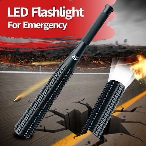 Baseball Bat LED Flashlight for Security and Self Defense