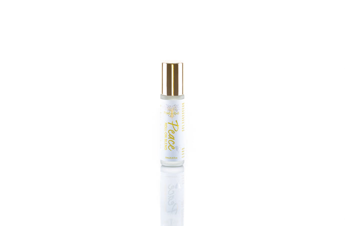 Peace aromatherapy roll on blend, featuring pure essential oils of lavender frankincense and sandalwood, deeply meditative and calming, all natural perfume and tool for tranquility