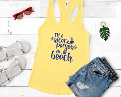 I'm A Nicer Person On The Beach SVG - Crafty Mama Studios