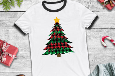 Christmas Tree, Buffalo Plaid Tree Christmas SVG - Crafty Mama Studios