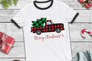 Merry Christmas, Buffalo Plaid Vintage Truck SVG - Crafty Mama Studios