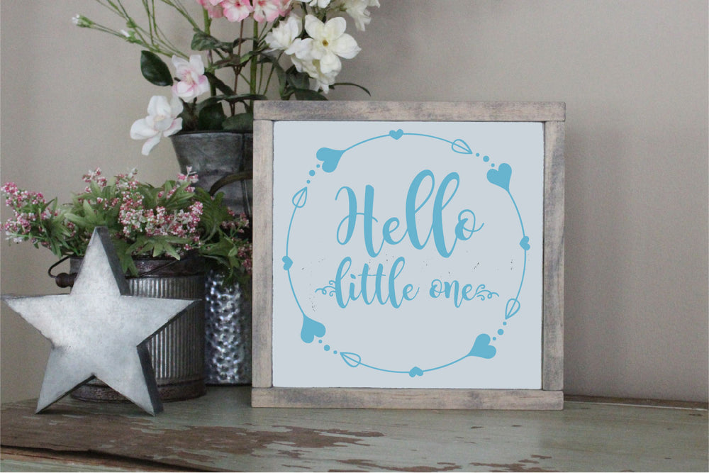 Hello, Little One SVG - Crafty Mama Studios