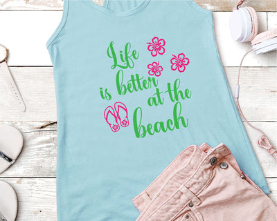 Life Is Better At The Beach SVG - Crafty Mama Studios