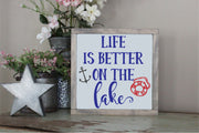 Life Is Better On The Lake SVG - Crafty Mama Studios