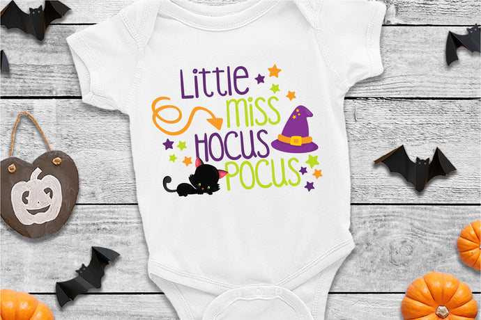 Little Miss Hocus Pocus, Halloween SVG - Crafty Mama Studios