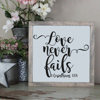 Love Never Fails, 1 Corinthians 13 8 SVG - Crafty Mama Studios