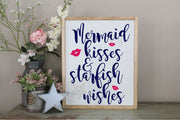 Mermaid Kisses And Starfish Wishes SVG - Crafty Mama Studios