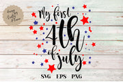 My First Fourth SVG - Crafty Mama Studios