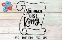 Naughty List King SVG - Crafty Mama Studios