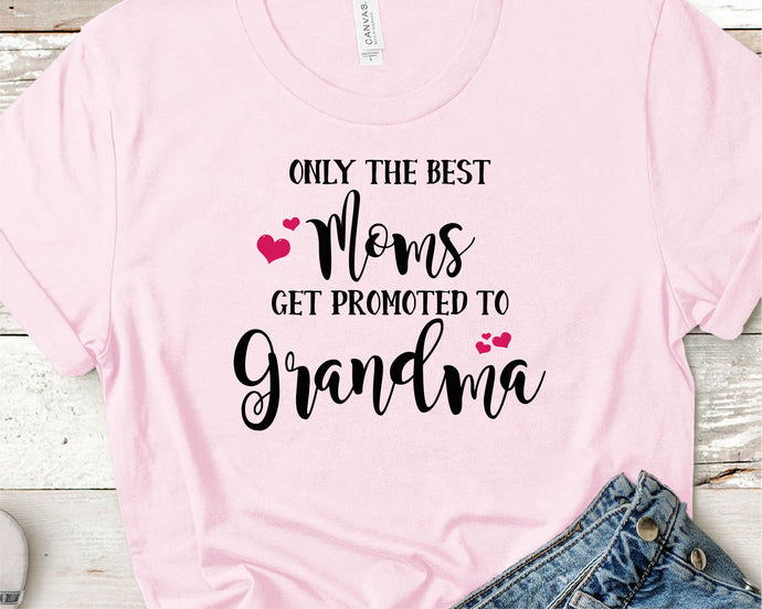 The Best Moms Get Promoted To Grandma SVG - Crafty Mama Studios