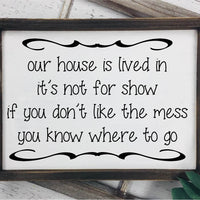 Our House Is Lived In SVG - Crafty Mama Studios
