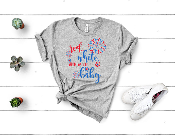 Red White And With Baby SVG - Crafty Mama Studios