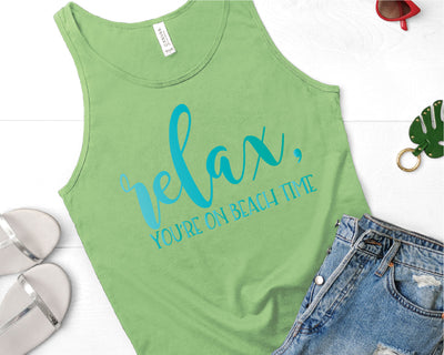 Relax You're on Beach Time SVG - Crafty Mama Studios