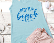 Resting Beach Face SVG - Crafty Mama Studios