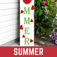 Summer Porch Sign Svg, Watermelon Svg