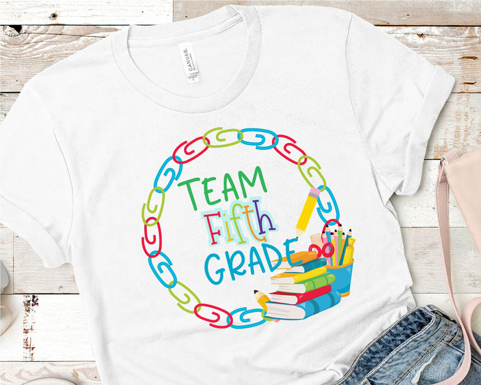 Team Fifth Grade, Teacher SVG - Crafty Mama Studios
