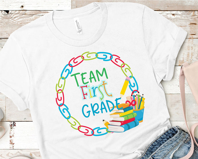 Team First Grade, Teacher SVG - Crafty Mama Studios