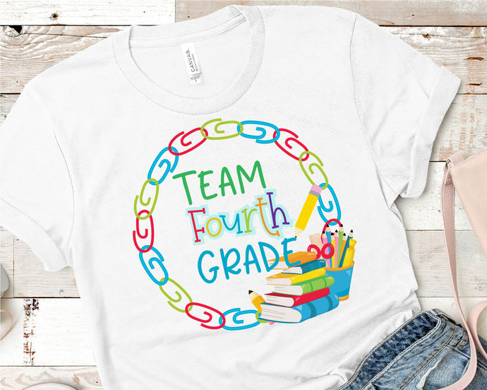 Team Fourth Grade, Teacher SVG - Crafty Mama Studios