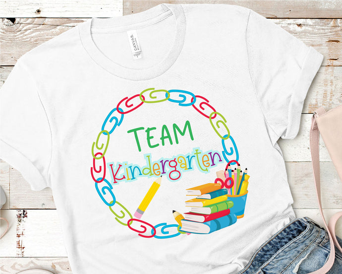 Team Kindergarten, Teacher SVG - Crafty Mama Studios