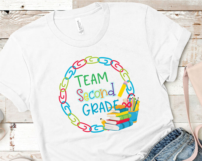 Team Second Grade, Teacher SVG - Crafty Mama Studios