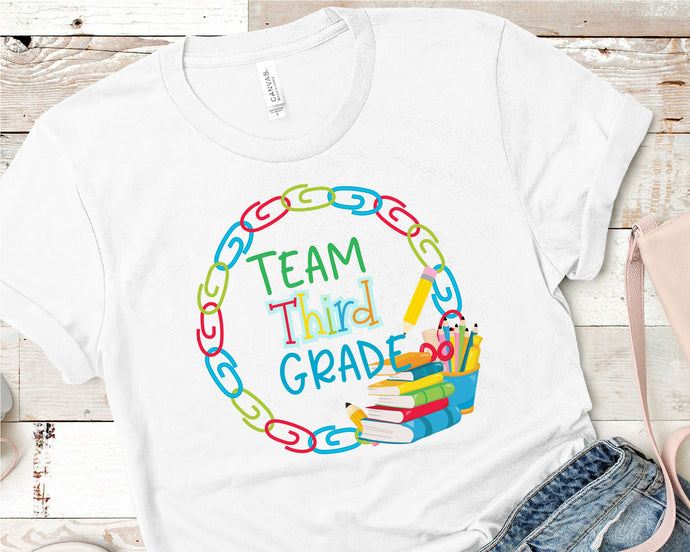 Team Third Grade, Teacher SVG - Crafty Mama Studios