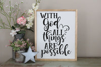 With God All Things Are Possible SVG - Crafty Mama Studios