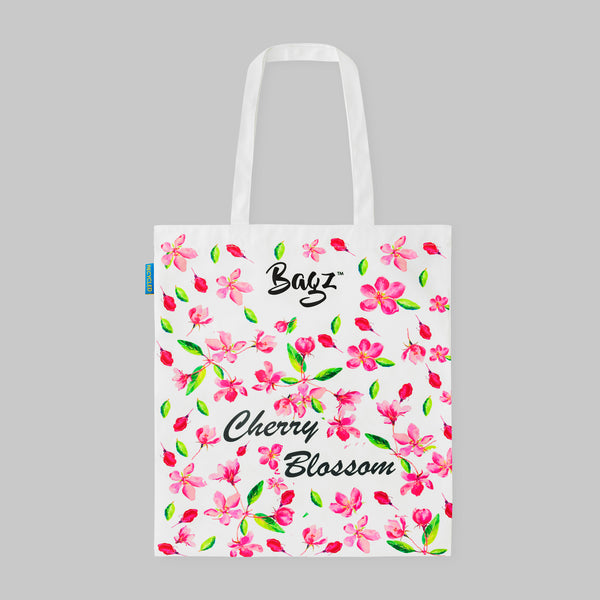 CHERRY BLOSSOM | WHITE | TOTE BAG