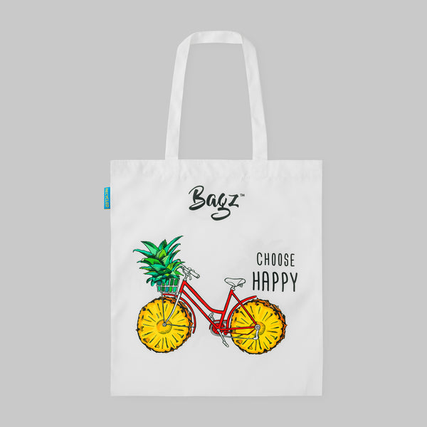 PINEAPPLE BIKE | WHITE | TOTE BAG