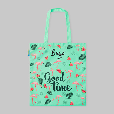 FLAMINGO | MINT GREEN | TOTE BAG