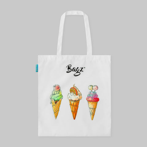 ICE CREAM | WHITE | TOTE BAG