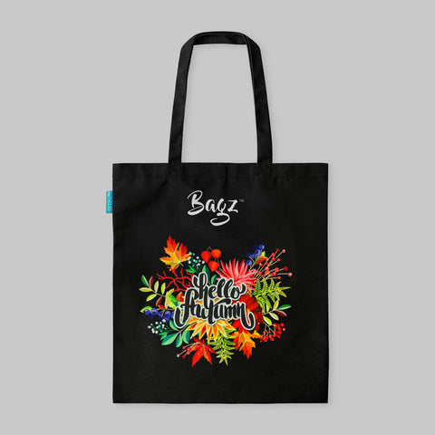 HELLO AUTUMN | BLACK | TOTE BAG