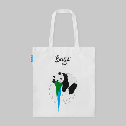 PANDA | WHITE | TOTE BAG