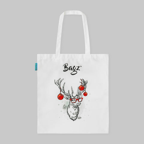 DEER | WHITE | TOTE BAG