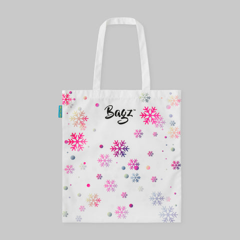 SNOW FLAKES | WHITE | TOTE BAG